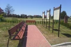 Zagospodarowanie terenu przy kościele w Rychwale.